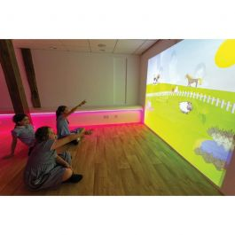 Ceiling Mounted Interactive Wall Projection