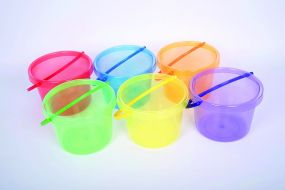Translucent Colour Bucket Set