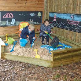 Jumbo Wooden Corner Sandpit