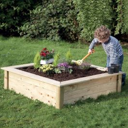 Wooden Mini Square Sandbox