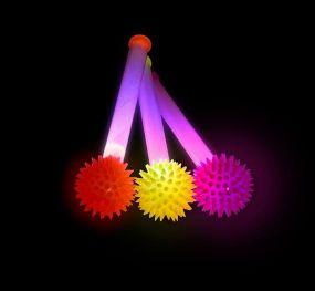 Spikey Light Up Single Baton
